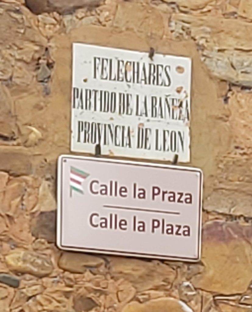 Calle la Praza en Felechares